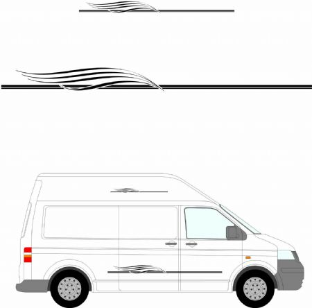 (No.271) MOTORHOME GRAPHICS STICKERS DECALS CAMPER VAN CARAVAN UNIVERSAL FITTING